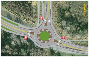 Single-Lane Roundabout at Sand Lake Road Intersection
