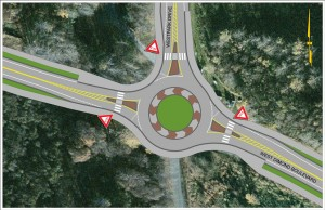 Single-Lane Roundabout at Westpark Drive Intersection with West Dimond Blvd.